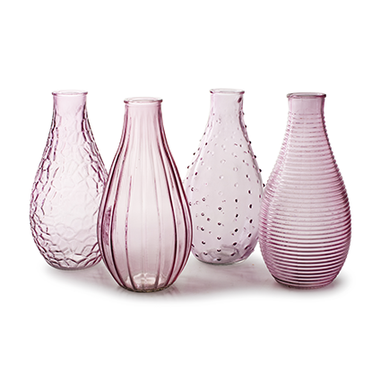 Vase 'decor' soft pink XL 4-ass. h24 cm
