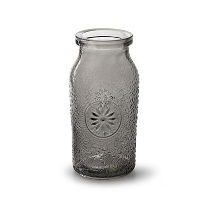 Bottle 'sunshine' smoke h16 d8 cm
