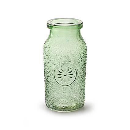 Bottle 'sunshine' spring green h16 d8 cm