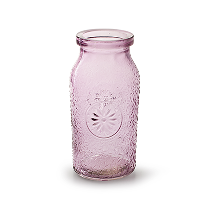 Bottle 'sunshine' soft pink h16 d8 cm