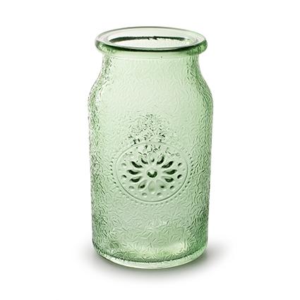 Vase 'Sunshine' spring green h18 d10 cm