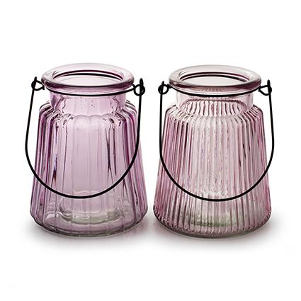 Vase 'isabella' soft pink 2-ass. h12 d10