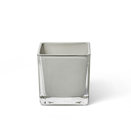 Cube 'piazza' soft grey 8x8x8 cm