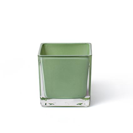Cube 'piazza' spring green 8x8x8 cm
