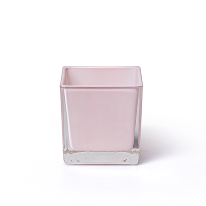 Cube 'piazza' soft pink 8x8x8 cm