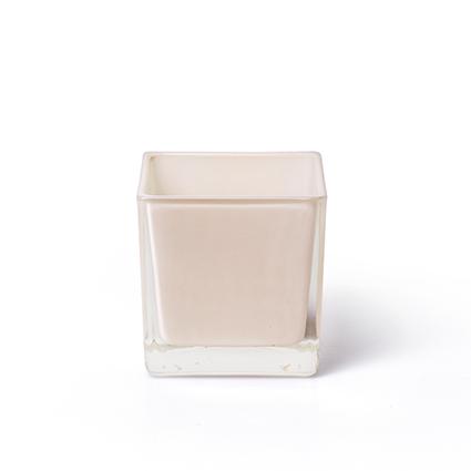 Cube 'piazza' peach 8x8x8 cm