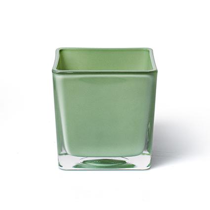 Accubak 'piazza' lente groen 10x10x10 cm