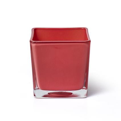 Accubak 'piazza' koraal rood 10x10x10 cm