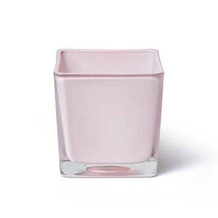 Cube 'piazza' soft pink 10x10x10 cm
