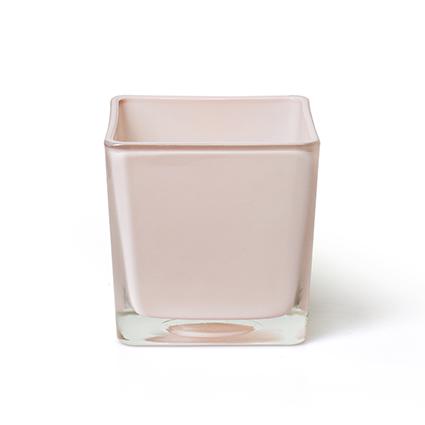 Cube 'piazza' peach 10x10x10 cm