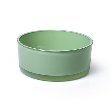 Schaal 'syl' lente groen h8 d19 cm