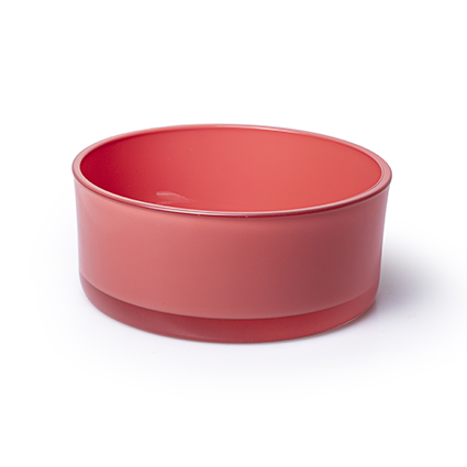 Bowl 'syl' coral red h8 d19 cm
