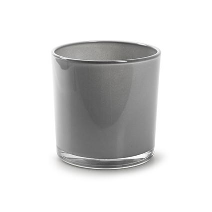 Con. vase 'monaco' soft grey h10 d10 cm