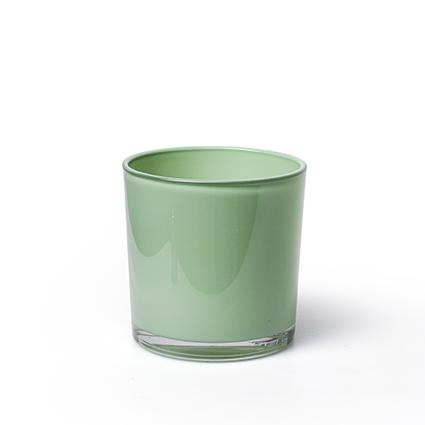 Kon. vaas 'monaco' lente groen h10 d10 cm