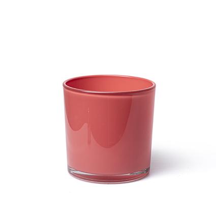 Con. vase 'monaco' coral red h10 d10 cm