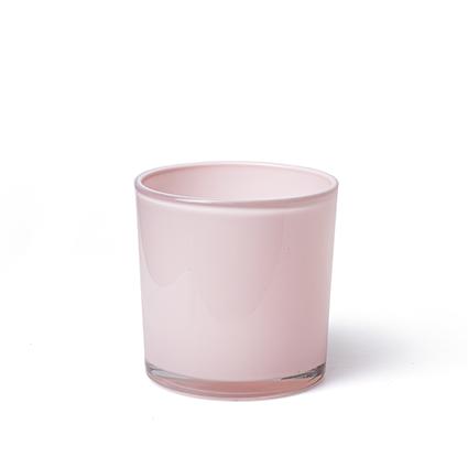 Con. vase 'monaco' soft pink h10 d10 cm