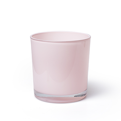 Conical vase 'monaco' soft pink h12 d11,