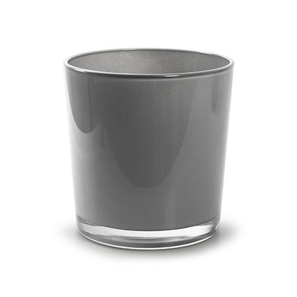 Conical vase 'monaco' soft grey h13 d12,