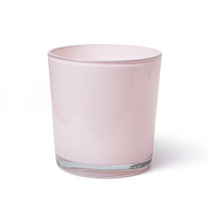 Conical vase 'monaco' soft pink h13 d12,