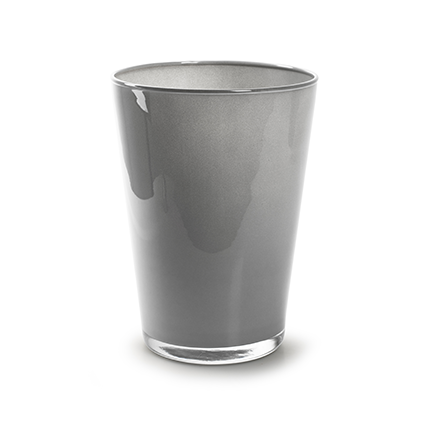 Conical vase 'kick' soft grey cover h20