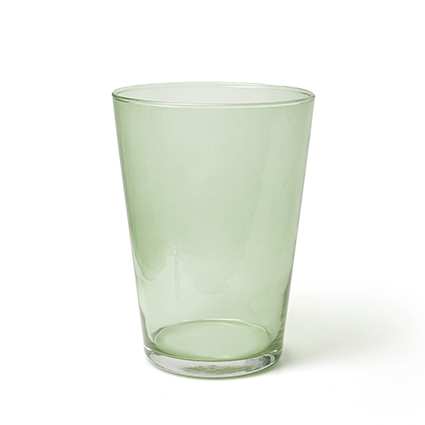 Conical vase 'kick' spring green h20 d14