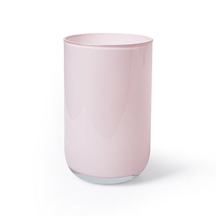 Cilinder 'davinci' zacht roze cover h21 d13 cm