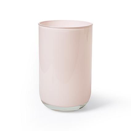 Cilinder 'davinci' perzik cover h21 d13 cm
