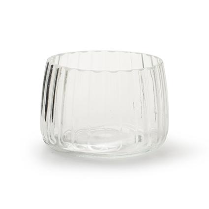 Cilinder vaas 'imke' h8,5 d12,5 cm