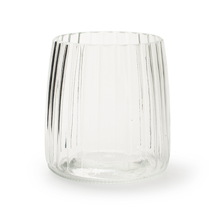 Cilinder vaas 'imke' h13,5 d12,5 cm