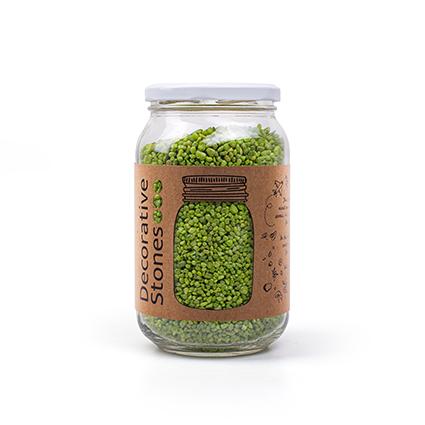 Pot ca 1200 gram deco granulaat fel groen