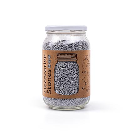 Jar 1200 grams deco granulate dark grey