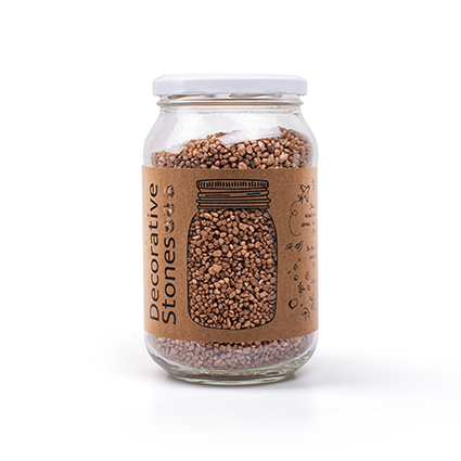 Jar 1200 grams deco granulate brown