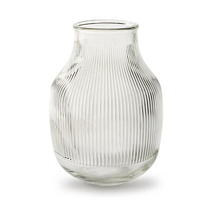 Vaas met ribbel 'django' h17,5 d12,5/7 cm