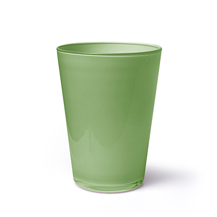 Conical vase 'kick' green cover h20 d14