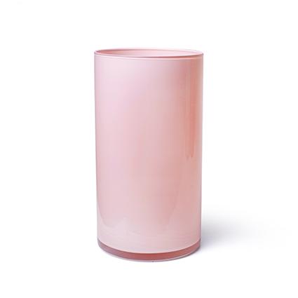 Cilinder 'arthur' roze cover h30 d16 cm