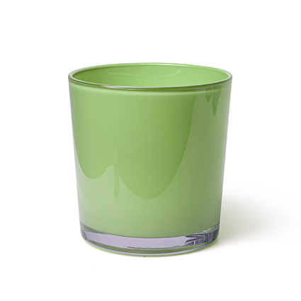 Konische vaas 'monaco' groen cover h13 d12,5 cm