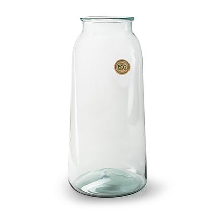 Eco glas vaas 'eddy' h51 bd24/td16 cm