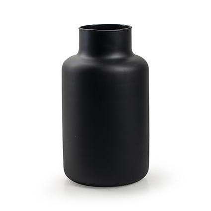 Eco vaas 'gigi' mat zwart h25 d14,5 cm