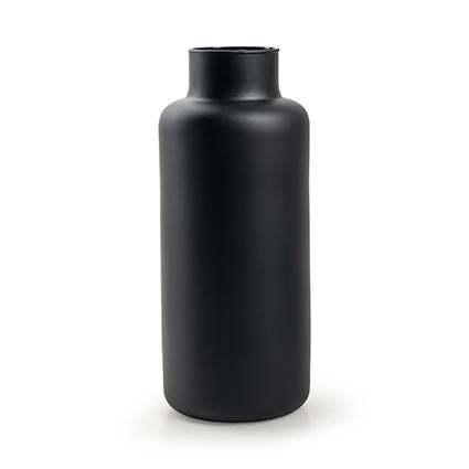 Eco vaas 'gigi' mat zwart h35 d14.5 cm