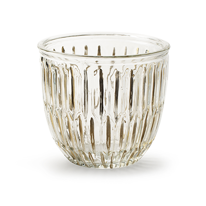 Glaspot 'joey' goudstreep h12 d13 cm