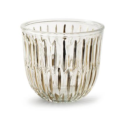 Glaspot 'joey' goudstreep h14 d15 cm