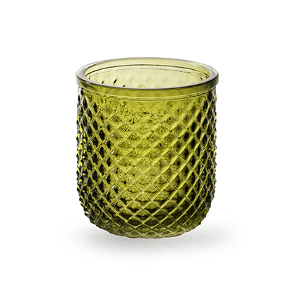 Sfeerlicht 'kim' groen h9,5 d8,5 cm