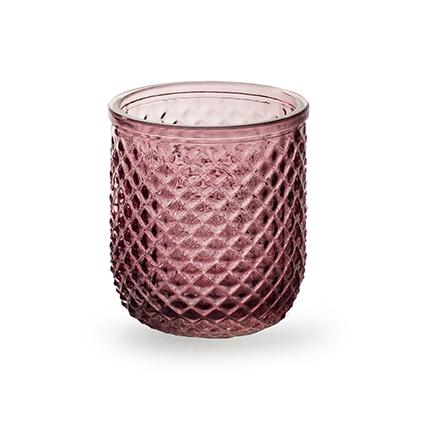 Sfeerlicht 'kim' roze h9,5 d8,5 cm