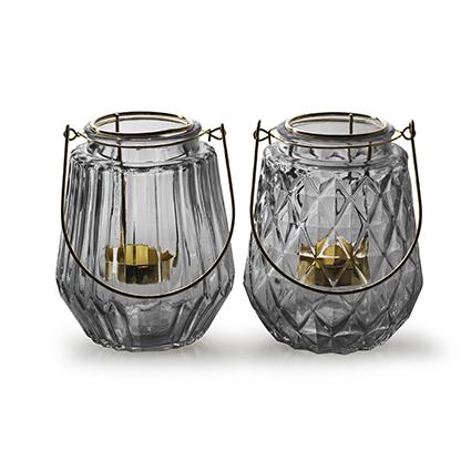 Lantern with golden insert 'isabo' smoke