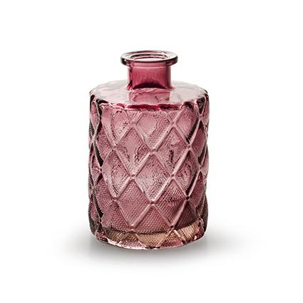 Flesvaas 'lolo' roze h10,5 d7 cm
