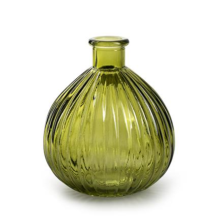 Roundvase 'jive' XL green h15 d13 cm