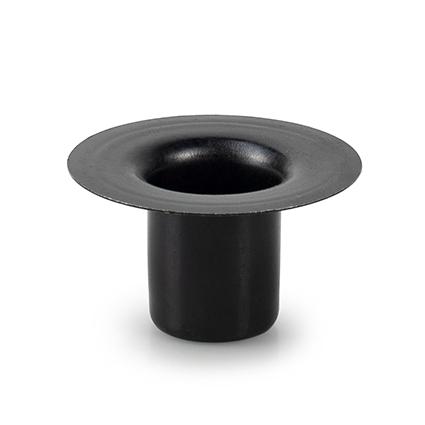 Metalen kaarshouden zwart h2,5 d5 cm