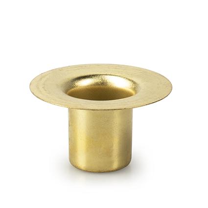 Metalen kaarshouden goud h2,5 d5 cm