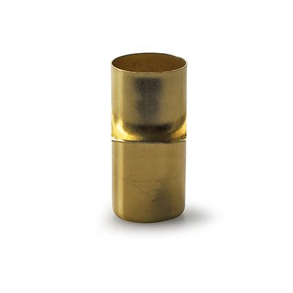Metalen kaarshouden goud h4 d2,4/1,8 cm