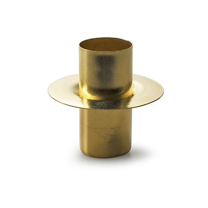 Metalen kaarshouden goud h5 d5 cm